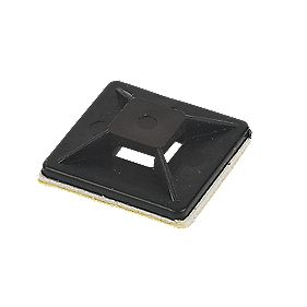 2-Way Adhesive Base Black 25mm x 25mm Pack of 100