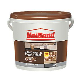 Unibond Floor Tile Adhesive 1.8m² Grey 8kg