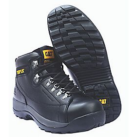 Caterpillar Hydraulic S3 Black Safety Boots Size 8
