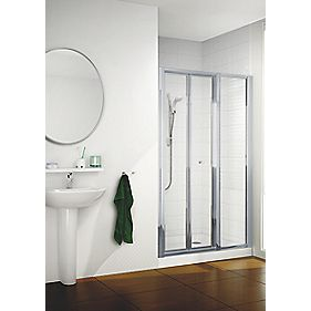 Mira Flight ACE Bi-Fold Shower Enclosure Door Square Silver 760 x 1830mm