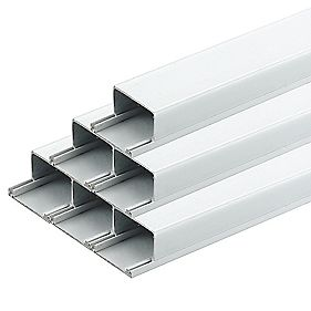 Tower Mini Trunking 38mm x 25mm x 2m (8m) Pack of 4