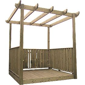Single Deck Pergola & Balustrade Kit 2.4 x 2.4 x 2.4m