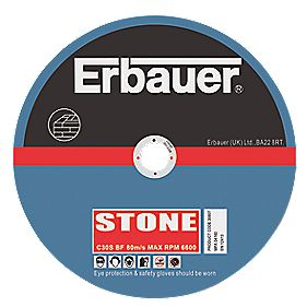 Erbauer Stone Cutting Discs 125 x 2.5 x 22mm Pack of 5
