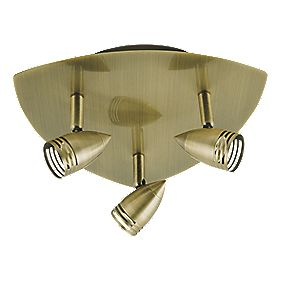 Antique Brass 3-Light Spotlight
