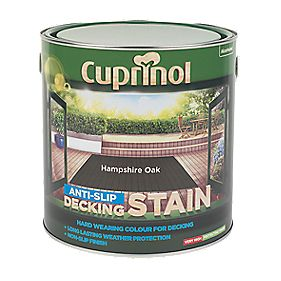 B and Q Ultra Tough Decking Stain Hampshire Oak 2.5Ltr