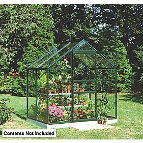 "Halls Popular Framed Greenhouse Green 6'3"" x 4'3"" x 6'6"""