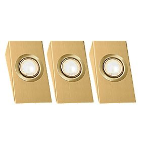 LAP Wedge Downlight Kit Brass Effect 20W Pack of 3