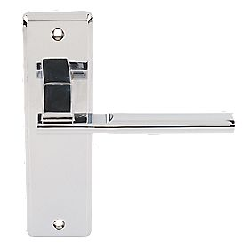 Jedo Delta Lever Latch Door Handle Polished Chrome