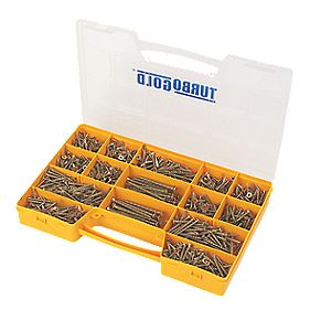 TurboGold Woodscrews Trade Case 1000Pieces