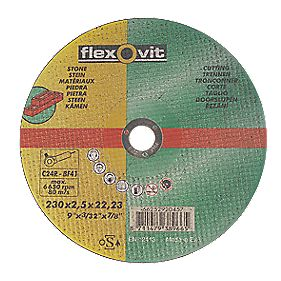 Flexovit Stone Cutting Discs 230 x 2.5 x 22.2mm Bore Pack of 5