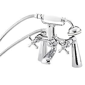 Bristan Colonial Bath / Shower Mixer Bathroom Tap Chrome-Plated