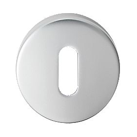 Serozzetta Standard Key Escutcheon Satin Chrome 51.5mm