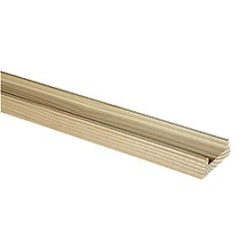 Richard Burbidge Oak 41mm Groove Base Rail White 62 x 28 x 2400mm