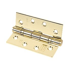 Eclipse Ball Bearing Hinges Polished Brass 102 x 76mm Pk3