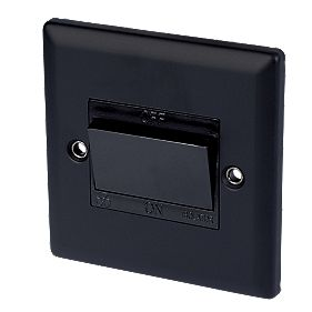 Volex 10A Fan Isolating Switch Blk Ins MB Angled Edge