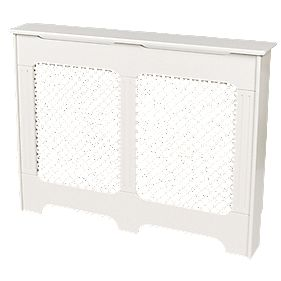 MDF Radiator Cabinet Medium Satin White 1198 x 200 x 900mm