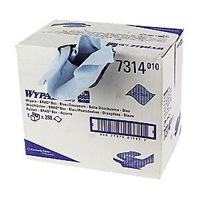 Kimberly-Clark Professional Wypall L30 Wipes Brag Box of 280 Blue