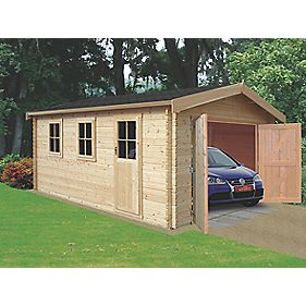 Bradenham 28 Log Cabin Assembly Included 3.8 x 4.4 x 2.7m