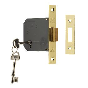 "Sterling 3-Lever Mortice Deadlock Brass 3"" (76mm)"