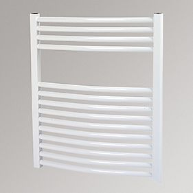 Kudox Curved Towel Radiator White 700 x 600mm 396W 1351Btu