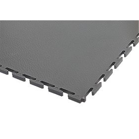 Ecotile uPVC Interlocking Floor Tiles 2m² Dark Grey Pack of 8