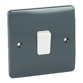 MK Logic Plus 1-Gang 1-Way 10AX SP Light Switch Graphite