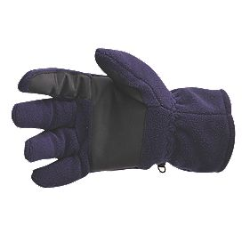Non Safety Thinsulate-Lined Fleece Gloves Purple/Black One Size Fits All