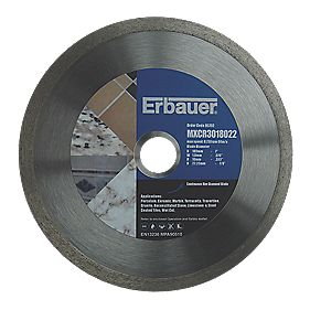 Erbauer Diamond Tile Blade 180mm x 22.2mm Bore