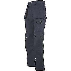"Dickies Eisenhower Multi-Pocket Trousers Navy 34"" W 32"" L"