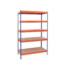 RB UK Boltless Freestanding Galvanised Shelving 5-Tier