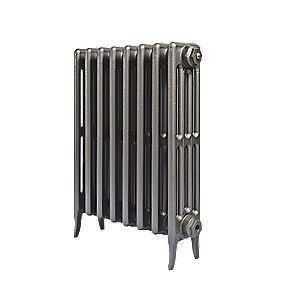 Cast Iron 660 Designer Radiator 4-Column Gun Metal Grey H: 660 x W: 397mm