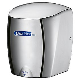 Biodrier biolite high speed low energy hand dryer chrome 0 for Bathroom hand dryers electric