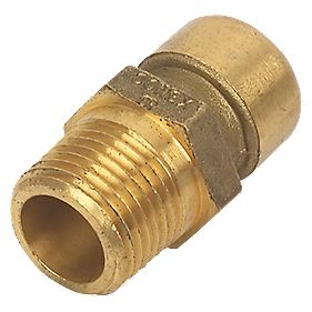 Conex Push-Fit 243G Straight Male Connector 15X½""