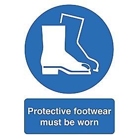 """Protective Footwear Must Be Worn"" Sign 420 x 297mm"