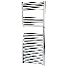 Kudox Flat Towel Radiator Chrome 600 x 1500mm 542W 1849Btu