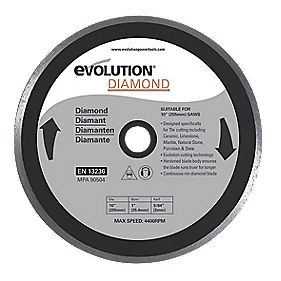 Evolution Tile Cutting Diamond Blade 255 x 2 x 25.4mm