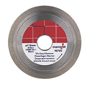 Marcrist TG750 Thin Grout Raking Blade 115 x 22.2mm Bore