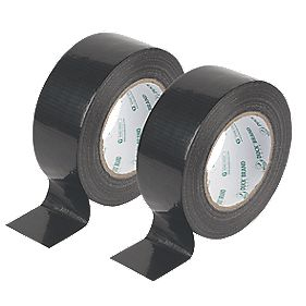 Duck Original Cloth Tape 50 Mesh Black 50mm x 25m