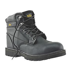 Site Rock Safety Boots Black Size 8