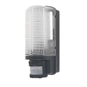 LAP RH60B-LED Bulkhead LED Wall Lamp with PIR Black 6W