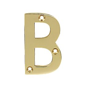 Door Letter B Polished Brass Effect 75mm