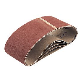 Cloth Sanding Belts Unpunched 100 x 610mm 60 Grit Pack of 5