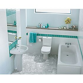 Ideal Standard Playa Contemporary Single Ended Bathroom Suite with Acrylic Bath