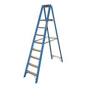 Lyte Heavy Duty Aluminium & Fibreglass Platform Ladder 8-Tread 2.4m
