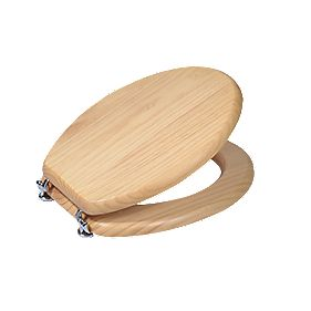 Toilet Seat Solid Wood Natural Pine