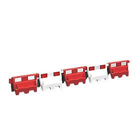 Roadbloc Barrier White Pack of 9