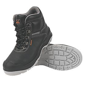 Worksite Industrial Wear Safety Boots Black Size 8