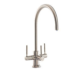 Brita Ceto 3-Way Sink Mounted Mono Mixer Tap w/ Li-Ion Indicator Brsh.Chr