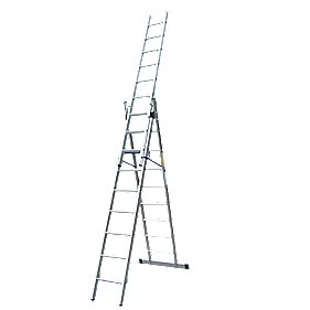 Lyte Combination Ladder 3 x 9-Rung 6-Way Aluminium