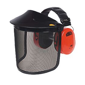 JSP Bushmaster Browguard with Ear Defenders Black/Orange